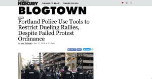 Portland Police Use Tools to Restrict Dueling Rallies, Despite Failed Protest Ordinance