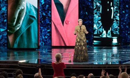 Frances McDormand discursa como Melhor Atriz. Foto: Divulgação.