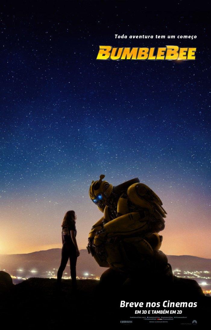 """Cartaz oficial do filme """"Bumblebee"""". Foto: Divulgação/Paramount Pictures"""