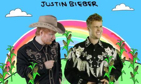 Ed Sheeran e Justin Bieber. Foto: Reprodução/Instagram (@teddysphotos)
