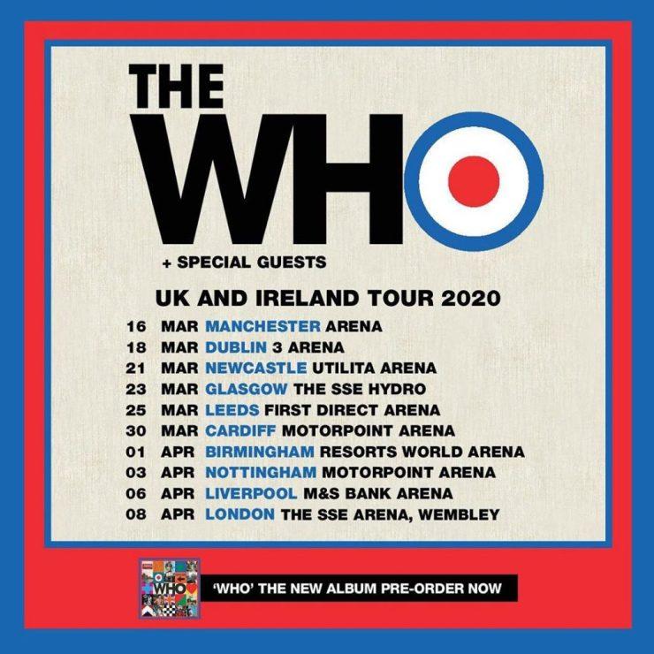 The Who. Foto: Reprodução/Instagram (@officialthewho)