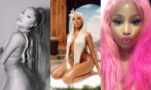 Ariana Grande, Normani e Nicki Minaj. Foto: PopNow/Reprodução/Instagram