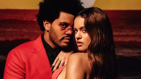 The Weeknd e Rosalía. Foto: Divulgação