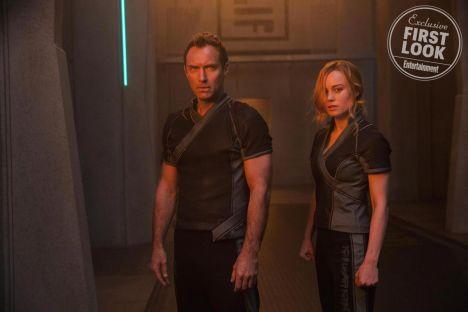 Jude Law & Brie Larson estão juntos em Capitão Marvel