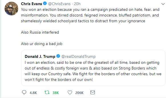 Chris Evans X Trump