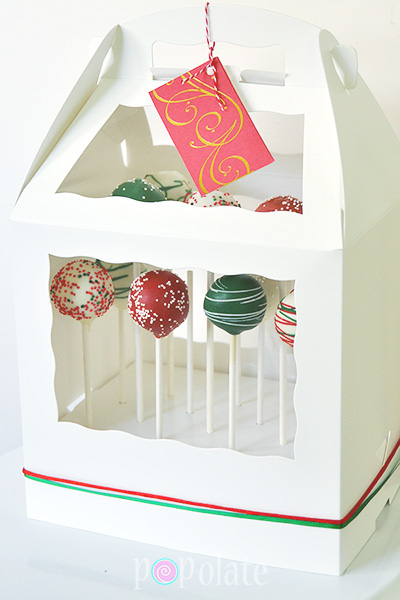 Christmas cake pops gift hamper set