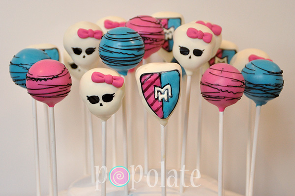Monster High cake pops skull skullete