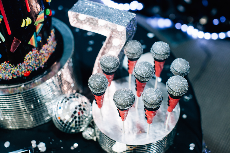 Disco party cake pops