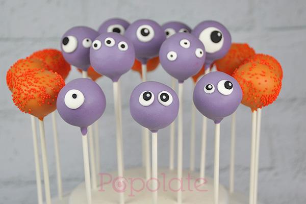Cute monster cake pops