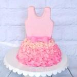 Ballet dress cake pink
