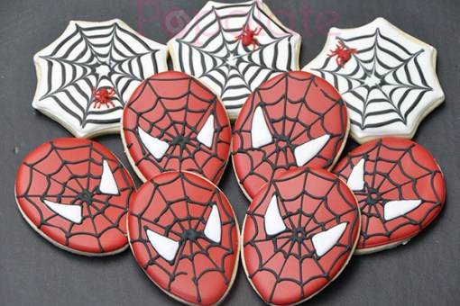 Spiderman spider web cookies