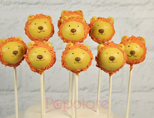 Cute lion cake pops