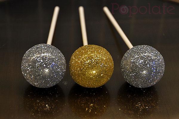 glitter gold silver sparkle cake pops Sydney Australia