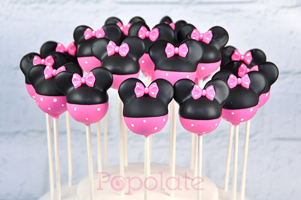Mickey Mouse Cake Pops Tutorial Pink Minnie Mouse cake...