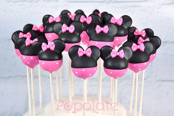 Pink Minnie cake pops