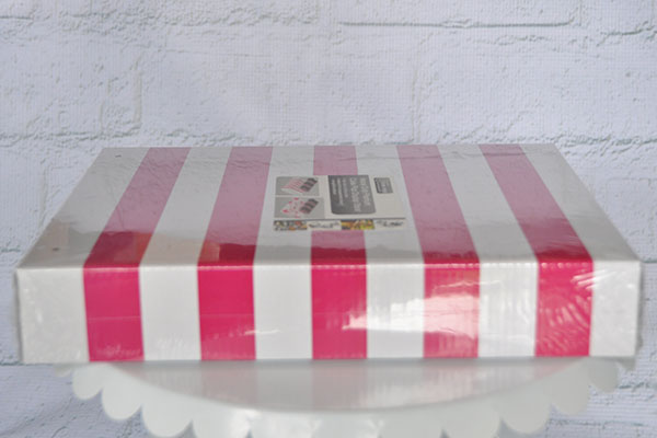 Pink and white cake pop stand disposable
