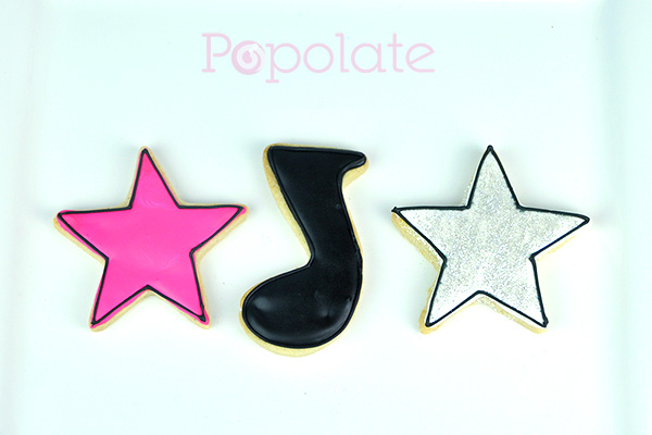 Disco party cookies music star