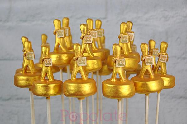 Logie award cake pops