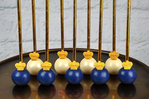 Navy blue regal cake pops