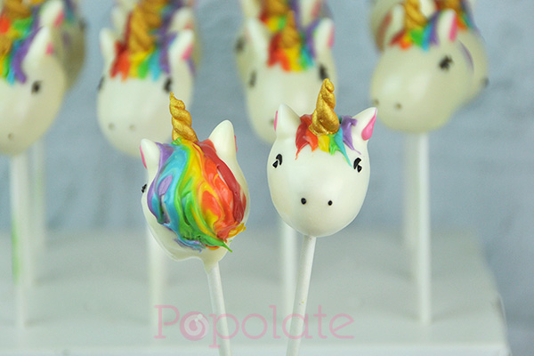 Rainbow Unicorn cake pops
