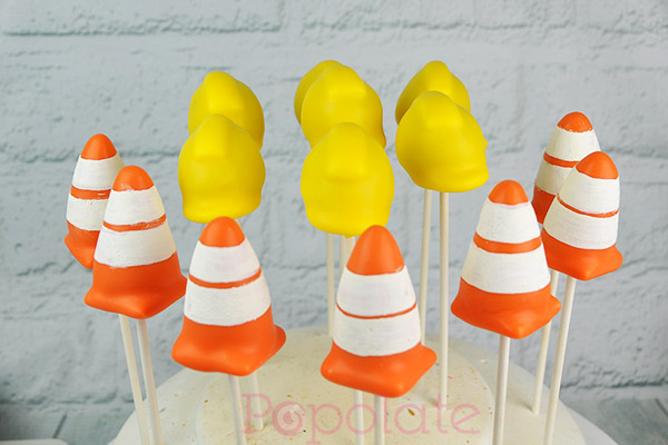Construction cake pops