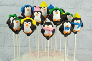 Penguin cake pops winter