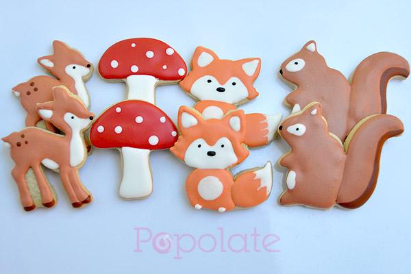 Woodland animal cookies