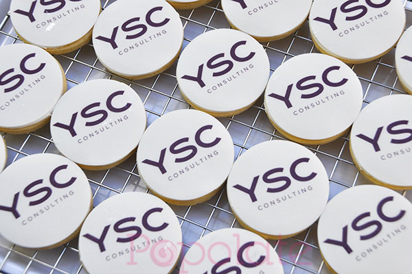 Corporate logo cookies biscuits Australia