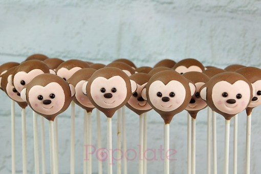 Cute monkey cake pops