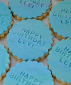 Happy birthday custom cookie
