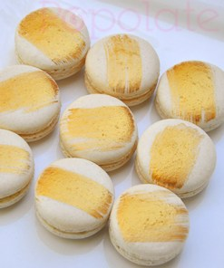 Gold macarons Hornsby