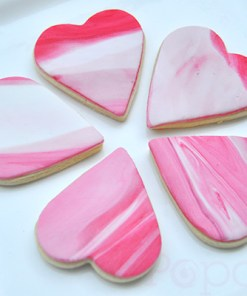 Heart marbled cookies