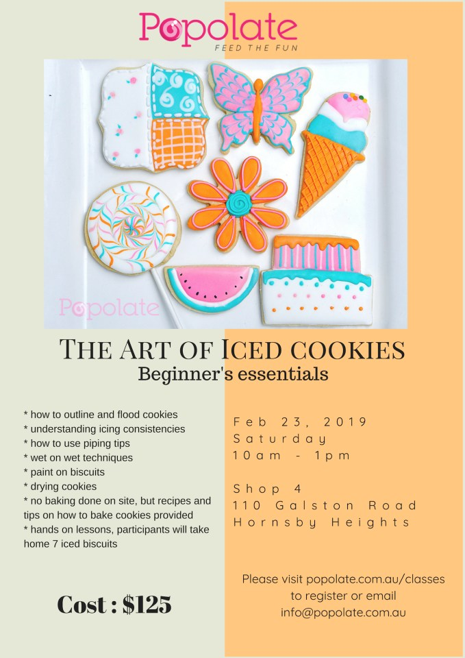 Royal icing cookie clas