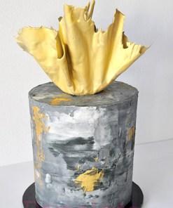 Artistic Gold Sail Cake