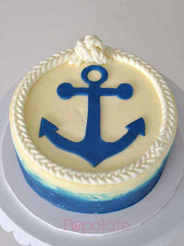 Navy Sailor Anchor Cake