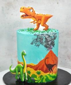 Dino themed cake 5 inch