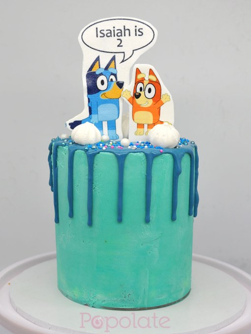 5 inch mini Bluey cake
