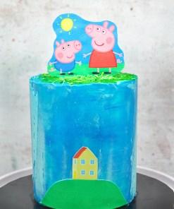 Peppa Pig themed cake