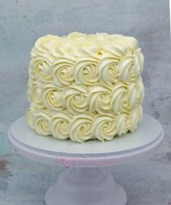 Rosette white cake