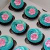 Moana flower cupcakes