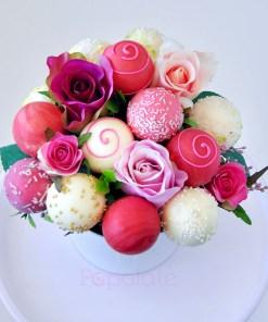 Rose bouquet cake pop set
