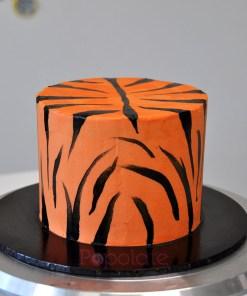 Tiger stripe cake
