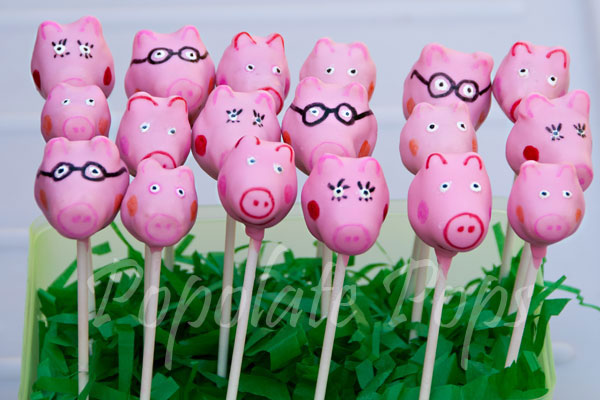Peppa Pig Cake Pops Popolate