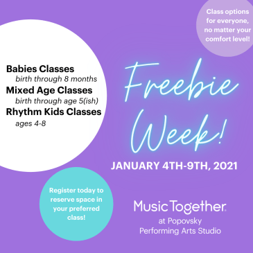 It's Freebie Week! FREE Sample Music Together classes!