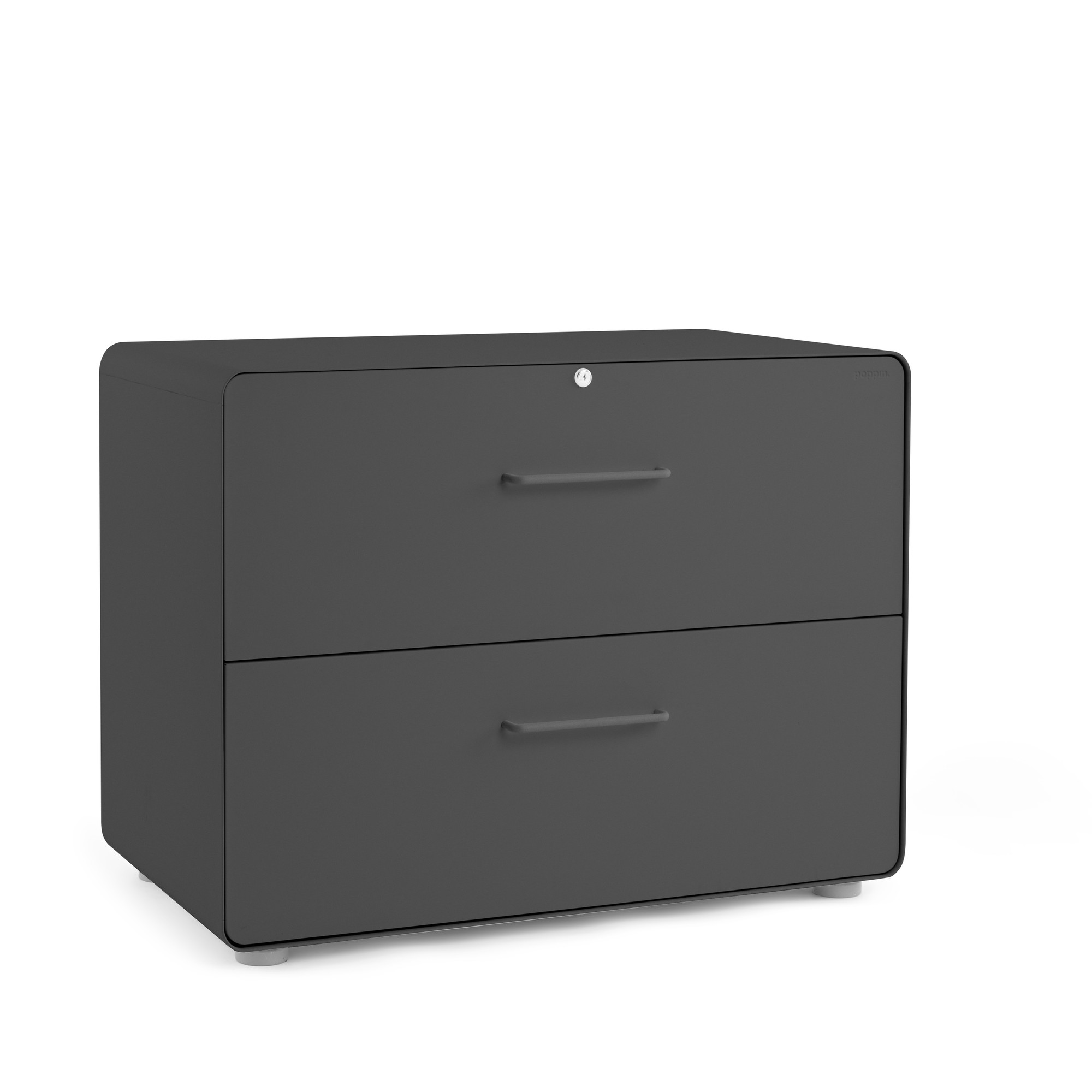 Charcoal Stow 2 Drawer Lateral File Cabinet File Cabinets Storage Poppin