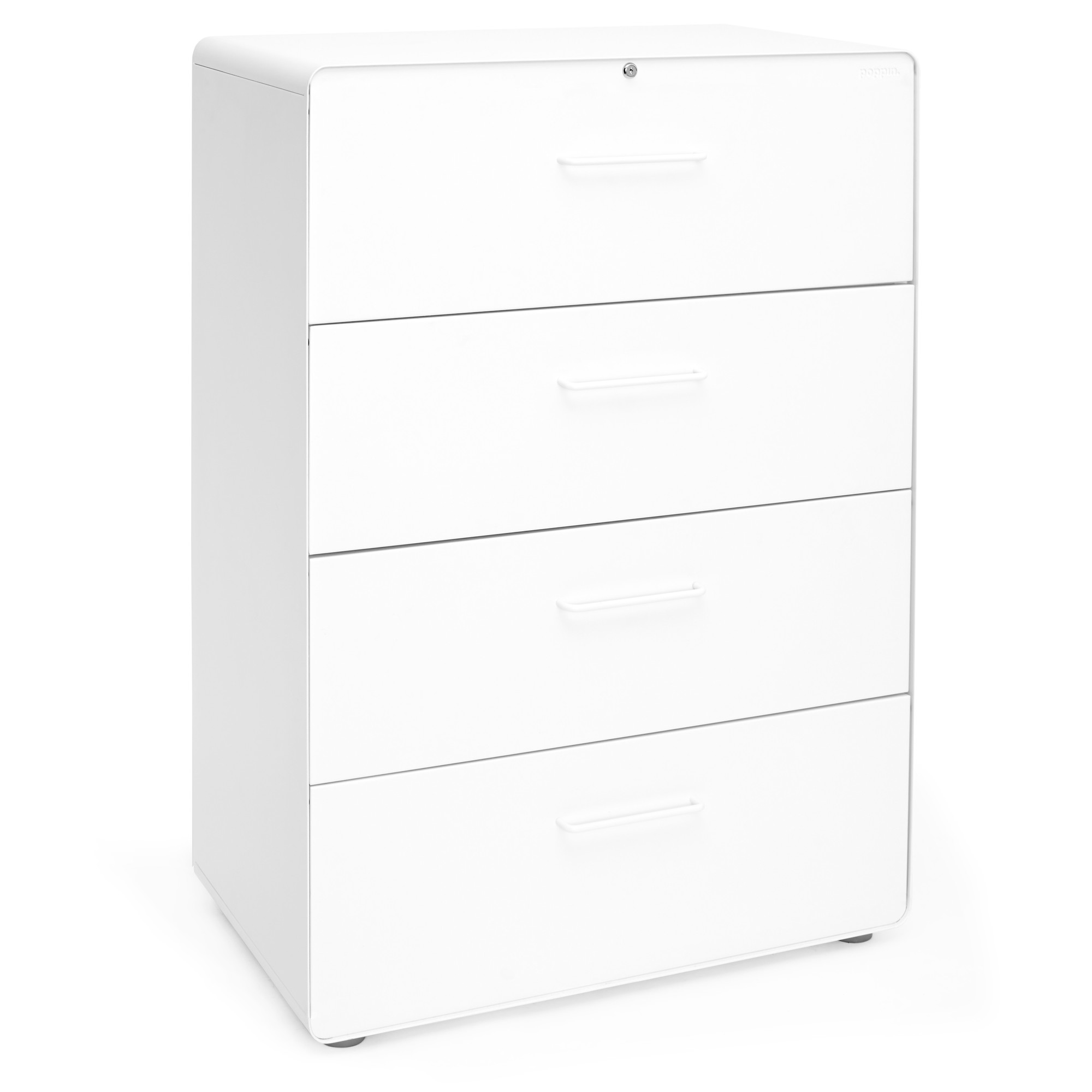 White Stow 4 Drawer Lateral File Cabinet File Cabinets Storage Poppin