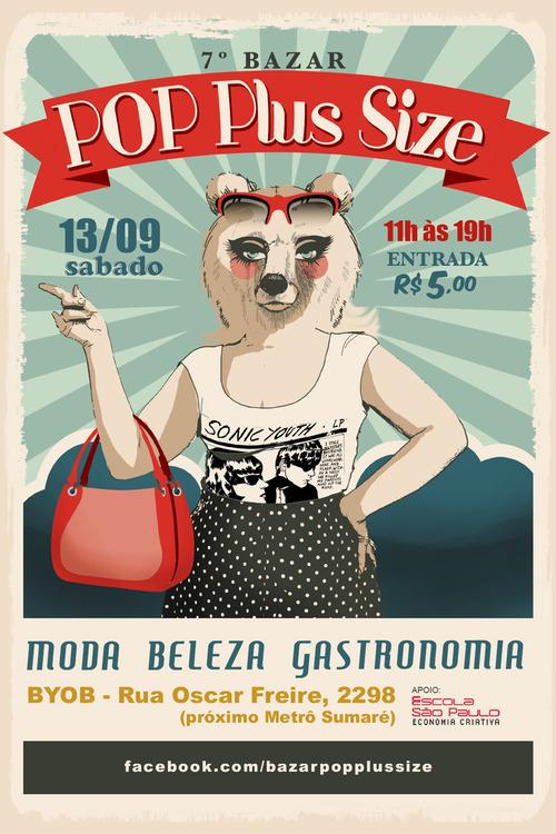 7ª edição do Bazar POP Plus Size acontece dia 13 de setembro no Apartamento BYOB, em São Paulo