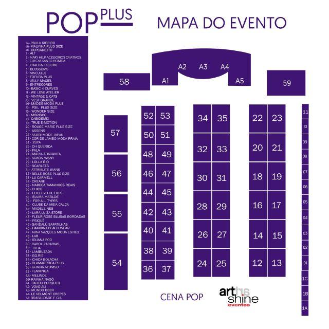 Veja o mapa da 18ª edição do Pop Plus