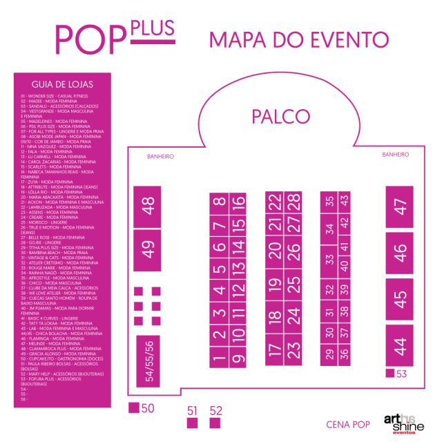 Veja o mapa da 19ª edição do Pop Plus