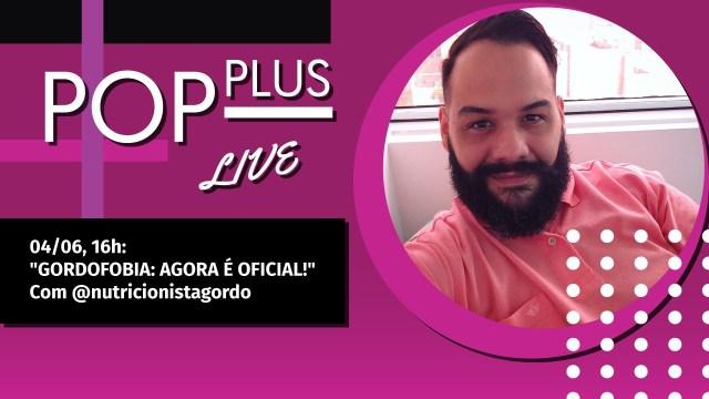 Nutricionista gordo Erick Cuzziol na live do Pop essa Quinta